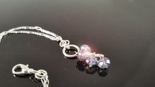 Load image into Gallery viewer, Rhinestone Silver Light Blue Glass Beads Chain Bracelets / Anklet 11""