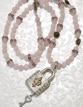Load image into Gallery viewer, Rose Quartz, Tiny Heart Shape Jade, Crystals Luck Pendant Necklace