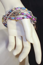 Load image into Gallery viewer, Colorful multi-strand Glass Beads Bracelet / Anklet