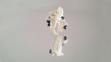 Load image into Gallery viewer, Silver Plated Wire w/ Alexandrite Color and Clear Glass Beads Ring