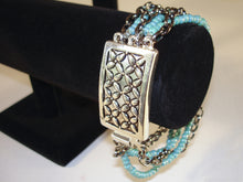 Load image into Gallery viewer, Multi Turquoise Bead Strands Bracelet