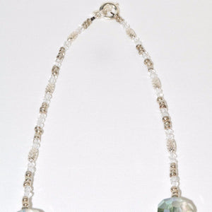 Shimmering Glass Beads Necklace