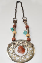 Load image into Gallery viewer, Silver Ring and Jade Pendent Necklace