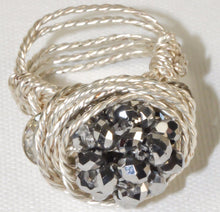 Load image into Gallery viewer, Sparkle Silver Plated Wire Ring