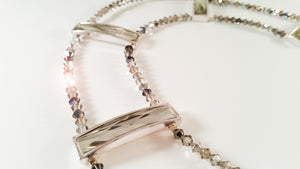 Sparkling tiny SWAROVSKI glass beads choker