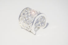 Load image into Gallery viewer, Sterling Silver CZ with hearts Ring