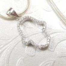 Load image into Gallery viewer, 925 Sterling Silver with cubic zirconia Hamssah Pendant Necklace