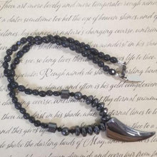 Load image into Gallery viewer, Magnet Black Calcite Talon Necklace