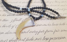Load image into Gallery viewer, Onyx Aquamarine Necklace