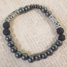 Load image into Gallery viewer, Lava Hematite Bracelet