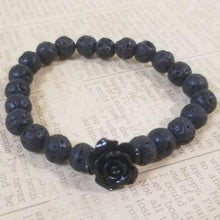 Load image into Gallery viewer, Lava Black Rose Bracelet