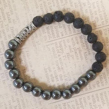 Load image into Gallery viewer, Hematite Lava Bracelet