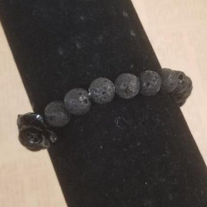 Lava Black Rose Bracelet