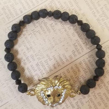 Load image into Gallery viewer, Lion Lava Beads Bracelet