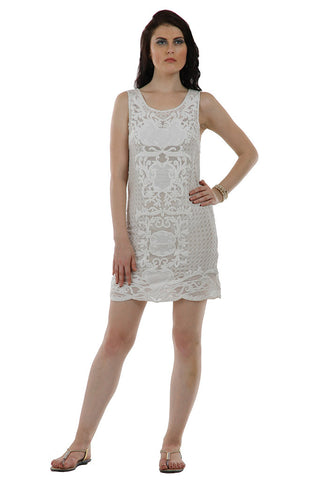 Lady R Saroise Sleeveless White Dress
