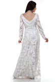 Lady R Erica Nylon Net Sequins Worked Gown