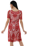 Lady R Talin Red Cord Work Dress