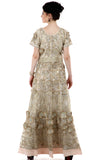 Lady R Huldah 3D Flower Patch Gown