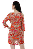 Lady R Sona Beautiful Red Tonal Work Dress