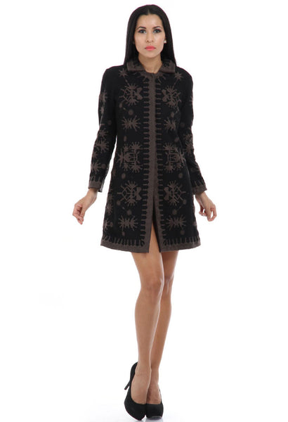 Lady R Valeria Black Wool Coat