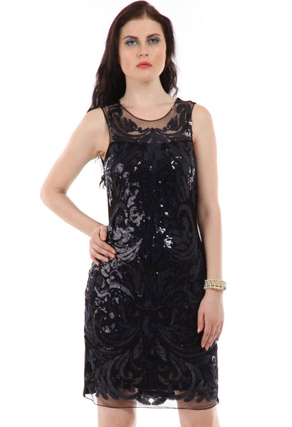 Lady R Waiole Sequins Work Embroidered Dress