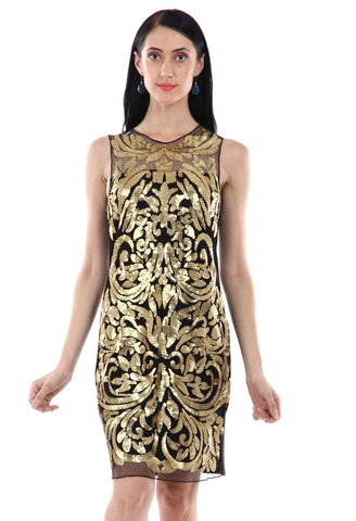 Lady R Wanda Golden Sequins Dress