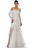 Lady R Calida Nylon Net Thread Embroidered Gown