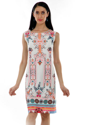 Lady R Rahel Multi Colour Thread & Digital Print Dress