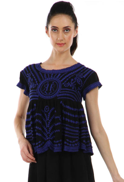 Lady R Ife Tonal Thread Work Top
