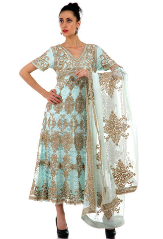 Lady R Maarit Golden Zari Work Suit