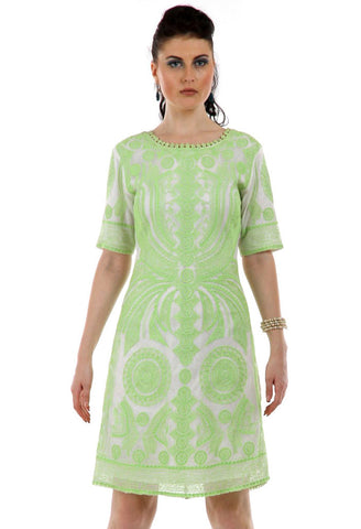 Lady R Wera Full Cord Embroidery Dress