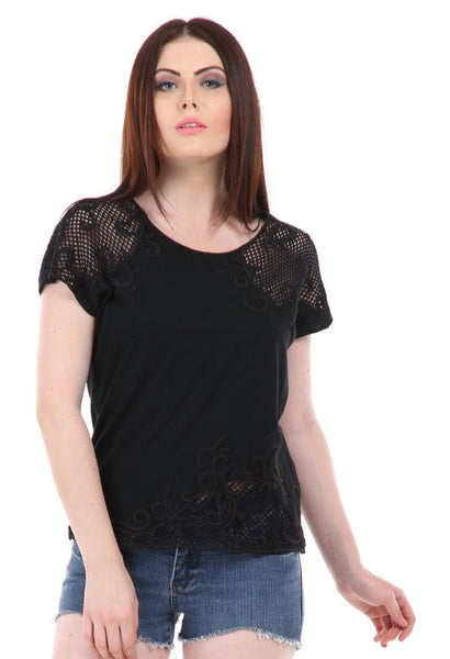 Lady R Adlai Thread Work Embroidered Top