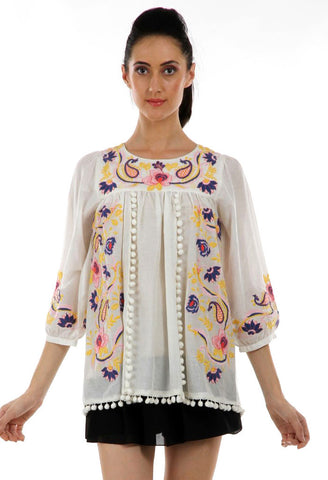 Lady R Kaia Thread Work Embroidery Top