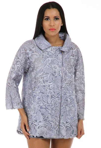 Lady R Hezel Nylon Square Net Jacket