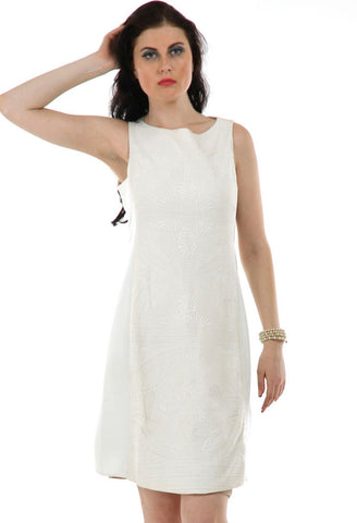 Lady R Sabra Quiltting Round Neck Dress