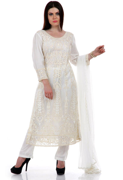 Lady R Anna Thread Embroidered Net Suit
