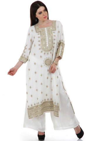Lady R Katie Zari Work Embroidered Suit