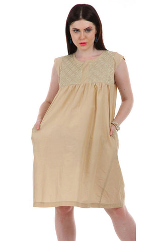 Lady R Madison Zari Thread Cap Sleeves Dress