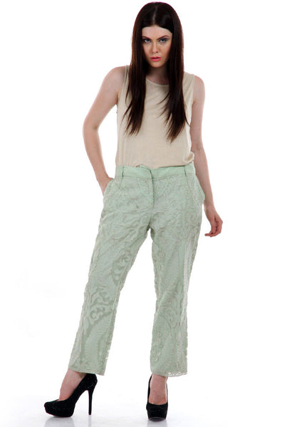 Lady R Chiffon Patch Work Pants