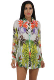 Lady R Sadie Viscose Crape Printed Shirt