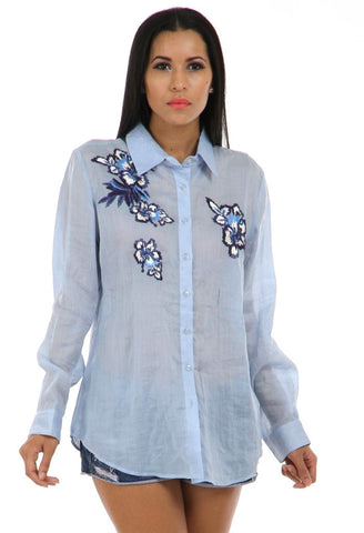 Lady R Jenna Pathed Ramie Shirt