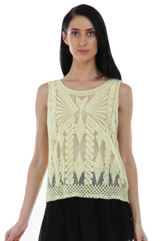 Lady R Carla Geometrical Pattern Top