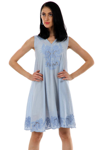 Lady R Quang Cut Work Embroidered Dress