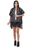 Lady R Savannah Poly Crape Poncho