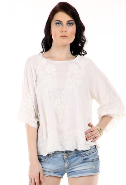 Lady R Kaelan 3/4th Sleeves Poncho Top