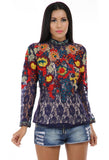 Lady R Patsy Self Net Embroidered Top