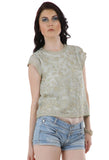 Lady R Edmonda Tonal Silk Tread Georgette Top