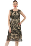 Lady R Harshil Cord Embroidered Net Dress