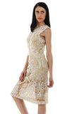 Lady R Valeesa White Beige Tapping Dress