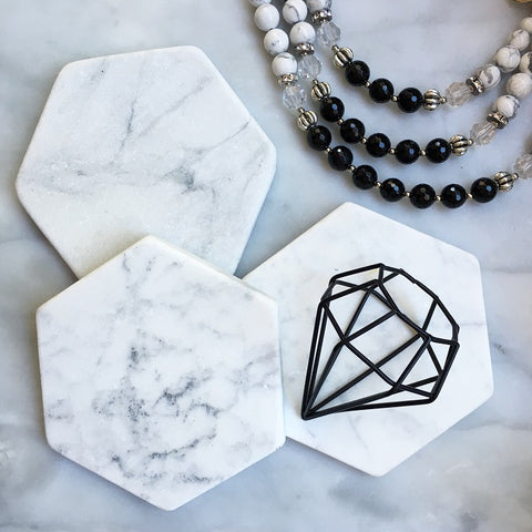 MARBLE COASTERS - HEXAGON